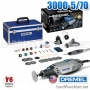 เจียรแกน 3 มิล. DREMEL variable speed rotary toolKit 3000-5/70